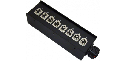 Stagebox 8x XLR-fem. 3pol., TL25 fem. m. Ü.-Mutter