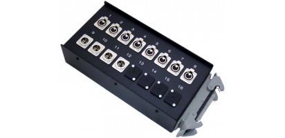 Stagebox  8x XLR-fem./4x XLR-male, HAN40 male