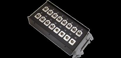 Stagebox 12x XLR-fem./4x XLR-male, HAN64 male
