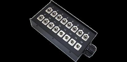 Stagebox 12x XLR-fem./4x XLR-male, TL54 male