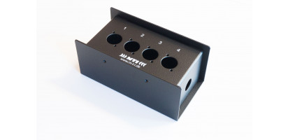 MTI Metall-Stagebox, 4 Bohrungen, Neutrik D-Serie
