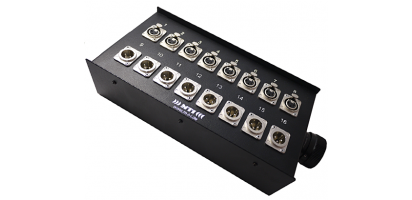 MTI Stagebox 16 Ch., 8x Neutrik XLR-fem./male, 1x Tourline 25p.male
