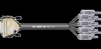 MTI Analog-Loom, D-Sub 25p. male/8x Mini-Klinke 3p.