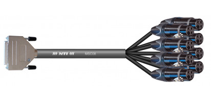 MTI Analog-Loom, D-Sub 25p. male/8x XLR-fem. 3p. sw., 8Ch.