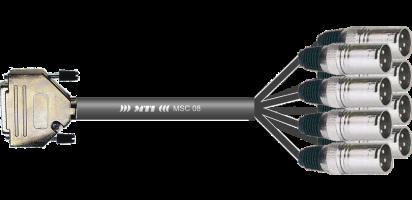 MTI Analog-Loom, D-Sub 25p. male/8x XLR-male 3p.