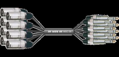 MTI Analog-Loom, XLR-male/Klinke 3p., 8Ch.