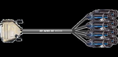MTI First Class Analog-Loom D-Sub-male 25p./XLR-fem., Goldkontakte