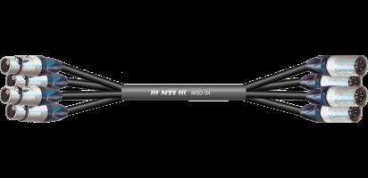 MTI First Class DMX-Loom 110 Ohm, XLR-fem./male 5p., 4 Ch.