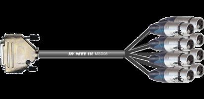 MTI Digital-Loom, D-Sub-male 25p./Neutrik XLR-fem., APO