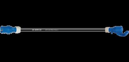 Lastverlängerung, CEE-3p. St./Bu. blau, 250 V/16 A, 3x 2,5 mm²