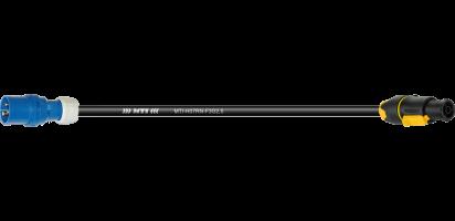 Lastverlängerung, CEE-3p. St./PowerCon True 1 fem, 250 V/16 A, 3x 2,5 mm²