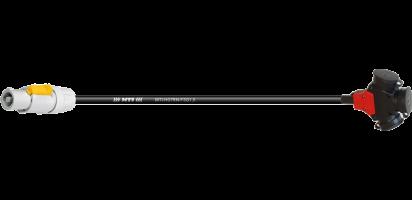 Lastverlängerung, Powercon FCB/3er-Kupplg. Gummi, 3x 1,5 mm²
