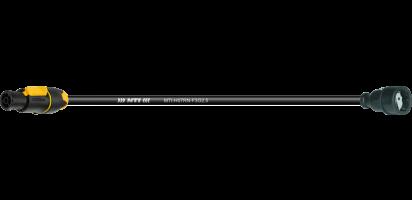 MTI Lastverlängerung, Schuko Kupplg. Gummi/PowerCon True1 TOP out, 3x 2,5 mm²
