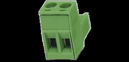 Euroblock 2-pol. Schraub-Kontakt, male , 2,5 mm²