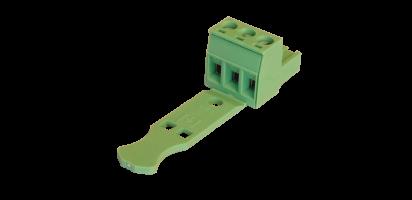 Euroblock 3-pol. Schraub-Kontaktträger male , 2,5 mm²