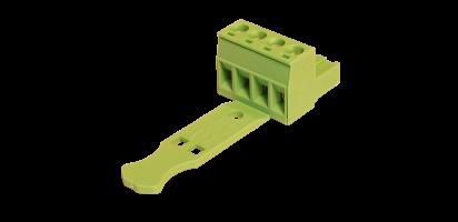 Euroblock 4-pol. Schraub-Kontakt, male, 2,5 mm²