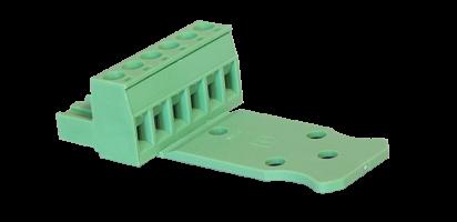 Euroblock 6-pol. Schraub-Kontakt, male , 2,5 mm²