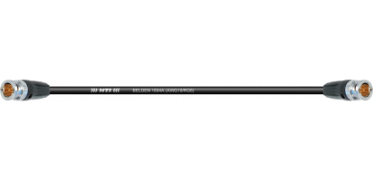 MTI/BELDEN Video-Cable, 2x BNC 75 Ohm, Goldkontakt, HDTV/SDI