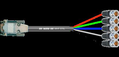 MTI VGA-Adapter, Sub-D male/5x Neutrik BNC