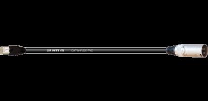 MTI CAT5e CAN-Bus Adapter, MTI XLR-male/RJ45, 0,3 m