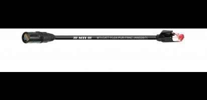 MTI CAT7-PUR-FRNC Ethernet-Kabel, Neutrik EtherCon NE8MX6B/RJ45