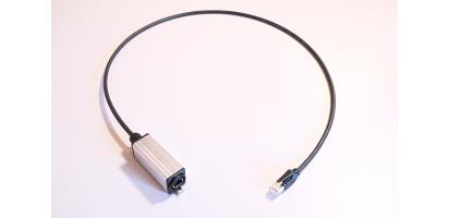 MTI-Adapter, CAT5e EtherCon-Metall-Gehäuse auf Hirose RJ45 mit Schutzkappe, 1,0 m