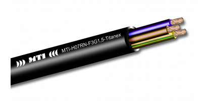 MTI Titanex Stromkabel, 3x 1,5 mm², Gummimantel