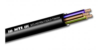 MTI Stromkabel, 3x 4,0 mm², Gummimantel