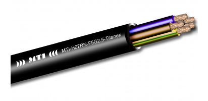 MTI Titanex Stromkabel, 5 x 2,5 mm², Gummimantel