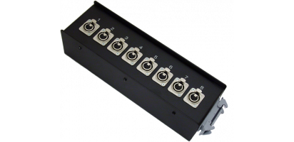 Stagebox 8x XLR-fem., HAN24 male