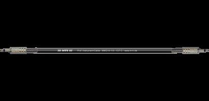 MTI Instr.-Cable, 2x Mini-Klinke 2pol., schwarz