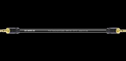 MTI Instr.-Cable, 2x Mini-Klinke 2pol., Goldkontakte, schwarz