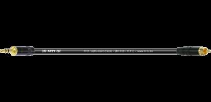 MTI Instr.-Cable, Mini-Klinke 2pol./RCA Cinch Goldkontakte, schwarz