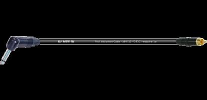 MTI Instr.-Cable TP7022, Neutrik Winkel-Kl. 2p./RCA Cinch Goldkontakte, schwarz
