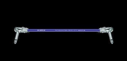 MTI Instr.-Cable, 2x flache Winkel-Klinke 2pol., blau