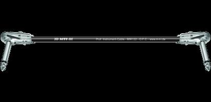 MTI Instr.-Cable, 2x flache Winkel-Klinke 2pol., schwarz
