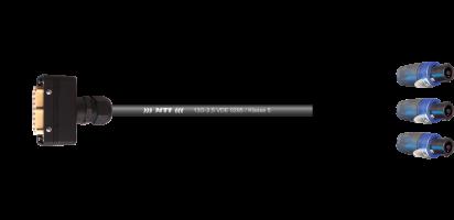 MTI LS-Breakout-Cable 13G-2,5, Kupplgs.-Geh.16E fem./3xNL4FX , sw, 2,0 m