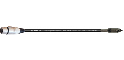 MTI Digital Micro-Cable, XLR-fem. 3p./Cinch