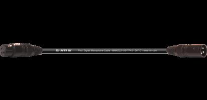 MTI Digital Micro-Cable, XLR fem./male 3p.sw.