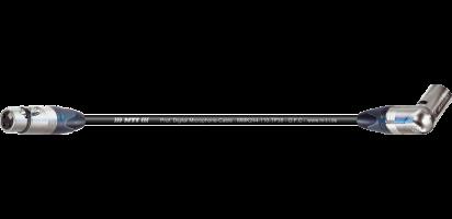 MTI Digital Micro-Cable TP13, XLR-fem./Winkel-XLR male 3p.