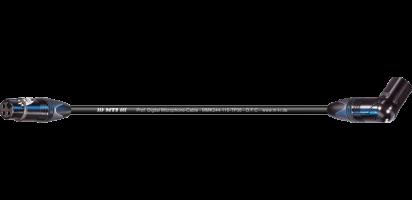 MTI Digital Micro-Cable TP13, XLR-fem./Winkel-XLR-male 3p., sw., gold