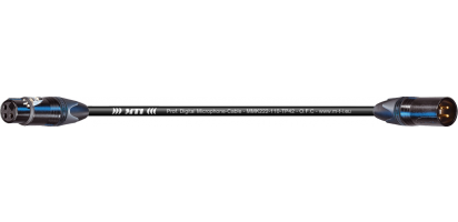 MTI Prof. DMX-Cable, Neutrik XLR-fem./male 3p.Goldkte., sw.