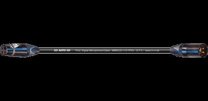 MTI Digital Micro-Cable, XLR-fem./male 3p. sw, gold