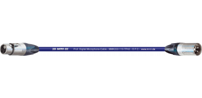 MTI Digital Micro-Cable, XLR-fem./male 3p., blau