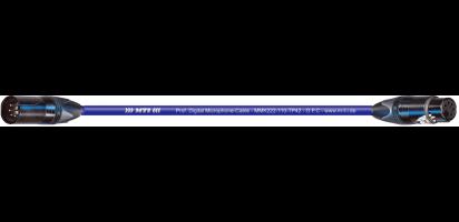 MTI Prof. DMX-Cable, XLR-fem./male 5p. bl.