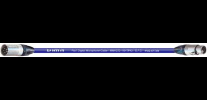 MTI Prof. DMX-Cable, XLR-fem./male 5p., blau