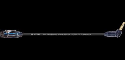 MTI Digital Micro-Cable TP13, XLR-fem./Winkel-Klinke 3p., sw., Goldkontakte