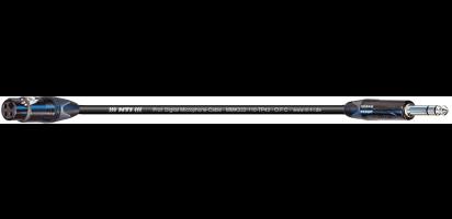 MTI Digital Micro-Cable, XLR-fem 3p./Klinke 2p., schwarz