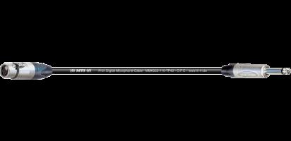 MTI Digital Micro-Cable, XLR-fem. 3p./Klinke 2p.