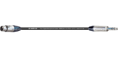 MTI Digital Micro-Cable TP13, XLR-fem./Klinke 3p.